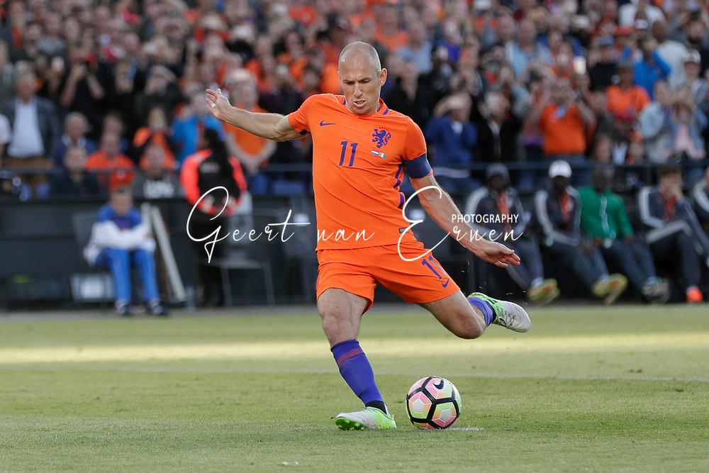 04-06-2017 VOETBAL:NEDERLAND-IVOORKUST:ROTTERDAM<br /> Oranje oefende tegen Ivoorkust vanavond in De Kuip<br /> <br /> Arjen Robben van Oranje (Bayern Munchen) <br /> <br /> Foto: Geert van Erven