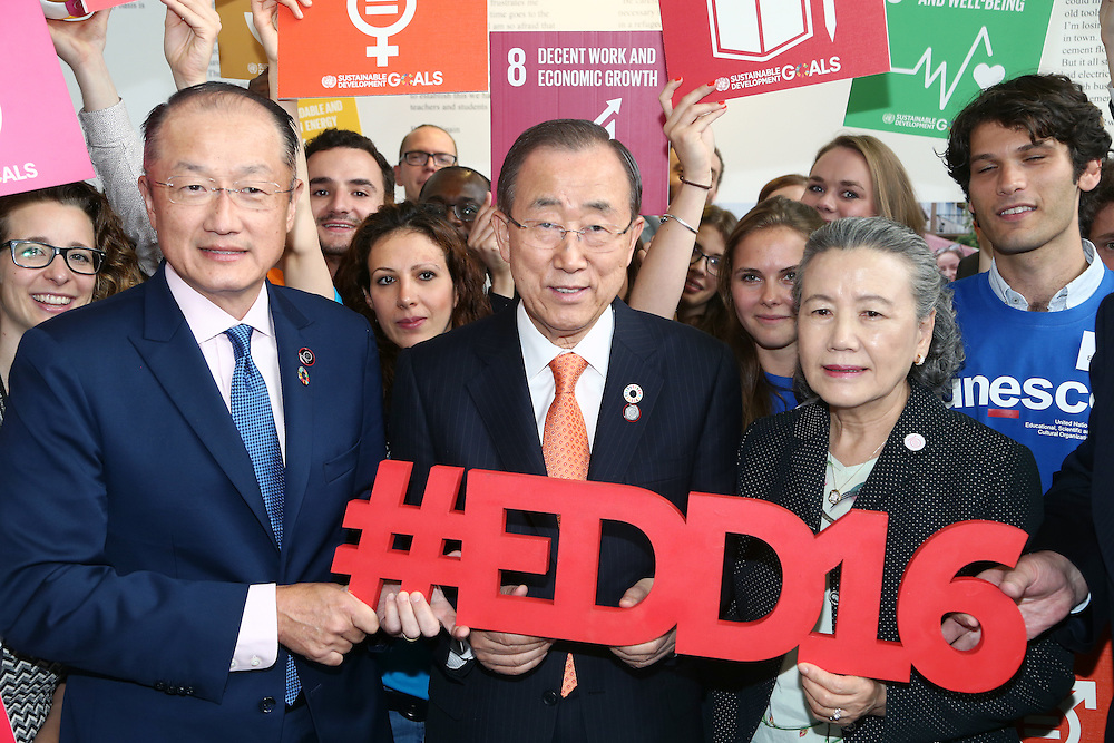 20160615 - Brussels , Belgium - 2016 June 15th - European Development Days - #EDD16 - Ban Ki-Moon - Secretary General, United Nations - Jim Yong Kim - President, The World Bank Group - Yoo (Ban) Soon-taek © European Union