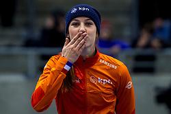 14-01-2018 DUI: ISU European Short Track Championships 2018 day 3, Dresden<br /> Suzanne Schulting NED #7 pat de zilveren medaille op de 1000 meter