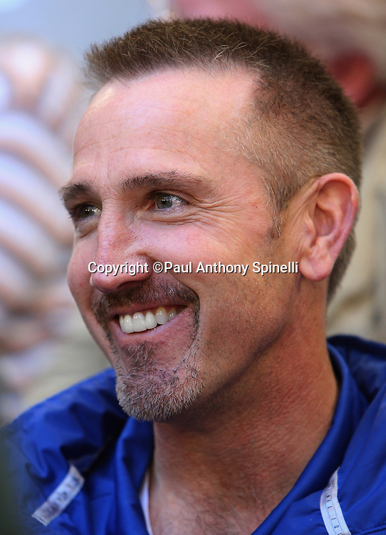 GLENDALE, AZ - JANUARY 29: Defensive Coordinator Steve Spagnuolo of the New York Giants smiles as he speaks to the media at the Giants Super Bowl XLII Media Day at University of Phoenix Stadium on January 29, 2008 in Glendale, Arizona.©Paul Anthony Spinelli *** Local Caption *** Steve Spagnuolo