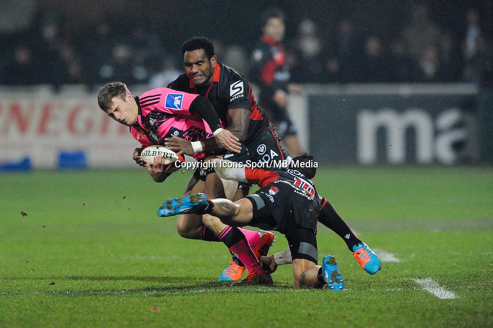 Jules Plisson - 02.01.2015 - Lyon OU / Stade Francais - 15eme journee de Top 14 <br />Photo : Jean Paul Thomas / Icon Sport