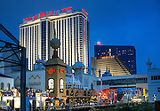 Casino and shops on boardwalk, Atlantic City, New Jersey, USA