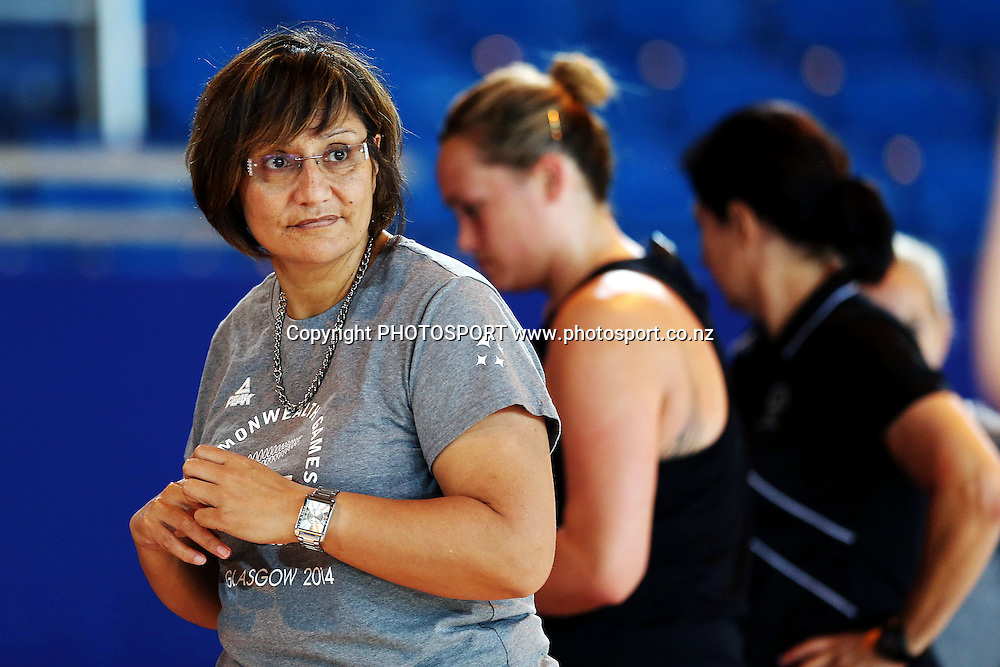 Head Coach Waimarama Taumaunu of the Silver Ferns during a Netball training session. 2014 Glasgow Commonwealth Games. Scottish Exhibition Conference Centre, Glasgow, Scotland. Wednesday 23rd July 2014. Photo: Anthony Au-Yeung / photosport.co.nz
