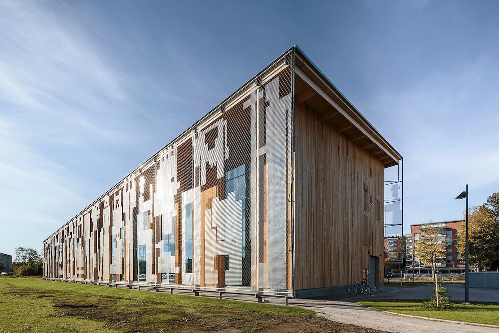 Savonlinna municipal library Joeli in Savonlinna, Finland designed by Heikkinen-Komonen Architects