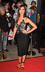 Janette Manrara attends the opening night of Fire in the Ballroom by dance company Burn the Floor at The Peacock in London.