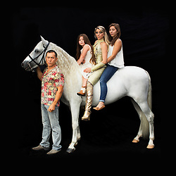 Portrait of Kanat and Tatiana Tchalabaeva with their kids Veronica and Angelica. The parents lead The Thundering Cossack Warriors in the show.<br /> <br /> After 146 years, the &quot;Greatest Show on Earth&quot; will close its curtain in the end of May. <br /> Ringling Bros. and Barnum &amp; Bailey Circus started in 1919 when the circus created by James Anthony Bailey and P. T. Barnum merged with the Ringling Brothers Circus. The circus' parent company, Feld Entertainment, made the decision to end the show after waning ticket sales and long court battles over the treatment of animals, particularly the elephants, made the costly entertainment event unsustainable.