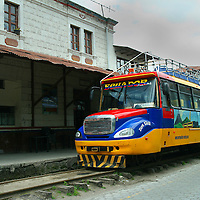 Alberto Carrera, Train Station, Nariz del Diablo Train, Alausí, Andes, Ecuador, South America, America
