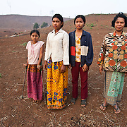 A rural Cambodian family pauses to be photographed near Pailin, on the border with Thailand.