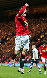 Wayne Rooney of Manchester United celebrates after scoring his sides third goal  - Photo mandatory by-line: Matt McNulty/JMP - Mobile: 07966 386802 - 16/02/2015 - SPORT - Football - Preston - Deepdale - Preston North End v Manchester United - FA Cup - Fifth Round