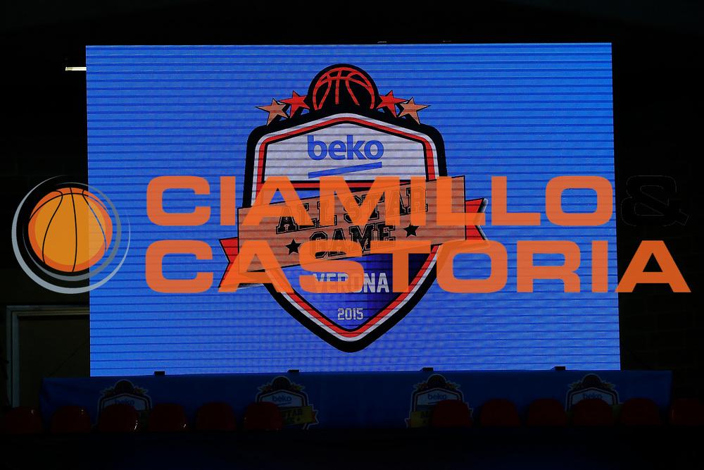DESCRIZIONE : Verona Lega A 2014-15 All Star Game 2015 <br /> GIOCATORE : logo alla star game<br /> CATEGORIA : Ritratto<br /> EVENTO : All Star Game Lega A 2015<br /> GARA : All Star Game Lega 2015<br /> DATA : 17/01/2015<br /> SPORT : Pallacanestro <br /> AUTORE : Agenzia Ciamillo-Castoria/G.Contessa<br /> Galleria : Lega A 2014-2015 <br /> Fotonotizia : Verona Lega A 2014-15 All Star game 2015
