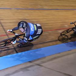 27-12-2017: Wielrennen: NK Baan: Alkmaar <br />Harry Lavreijsen werd in een derde rit geklopt door Mathijs Buchli op het NKJ Sprint