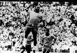 May 31, 1970 - Mexico City, Mexico - Brazilian soccer player EDSON NASCIMENTO 'PELE' playing in the World Cup against Mexico. (Credit Image: © Keystone Press Agency/Keystone USA via ZUMAPRESS.com)
