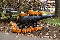 Canon and Jack o Lanterns at Keene Pumpkin Festival