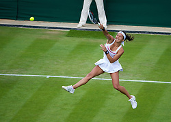LONDON, ENGLAND - Tuesday, June 25, 2013: Heather Watson (GBR) during the Ladies' Singles 1st Round match on day two of the Wimbledon Lawn Tennis Championships at the All England Lawn Tennis and Croquet Club. (Pic by David Rawcliffe/Propaganda)