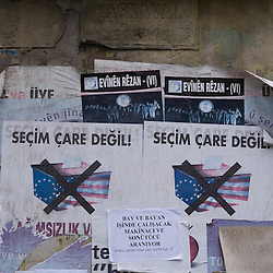 Anti EU and US poster, Istanbul, Turkey