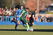 AFC Wimbledon midfielder Jake Reeves (8) during the The FA Cup match between Curzon Ashton and AFC Wimbledon at Tameside Stadium, Ashton Under Lyne, United Kingdom on 4 December 2016. Photo by Stuart Butcher.