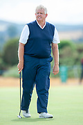 Colin Montgomery on the 9th green during round 3 of the Seniors Open St Andrews, West Sands, Scotland on 28 July 2018. Picture by Malcolm Mackenzie.