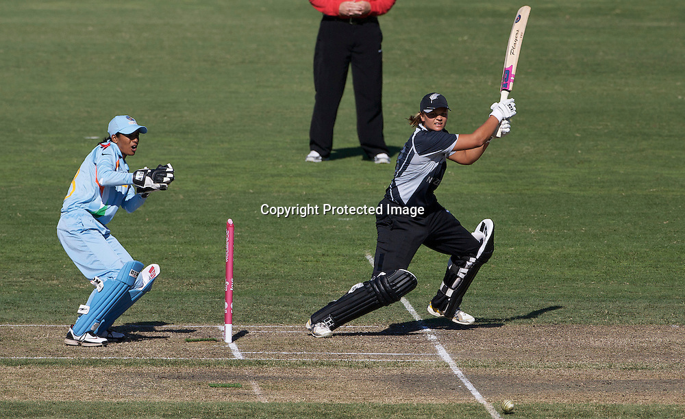 Sydney-March 17:   Suzie Bates batting during the match between New Zealand and India in the Super 6 stage of the ICC Women's World Cup Cricket tournament at North Sydney  Oval, Sydney, Australia on March 17, 2009. New Zealand beat India by 5 wickets. Photo by Tim Clayton.