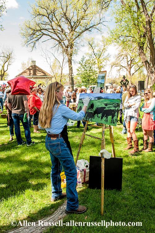 quick draw art show riverfront park miles city bucking horse sale montana