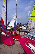 AT5BX0 Launch sailing dinghy boats River Deben Woodbridge Suffolk