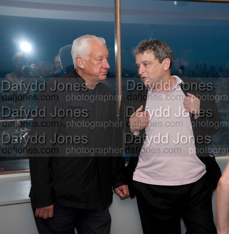 MICHAEL CRAIG-MARTIN; NORMAN ROSENTHAL, Dinner hosted by Julia Peyton-Jones and Hans Obrist for the Council of the Serpentine to celebrate: Jeff Koons, Popeye Series. Paramount Club, Paramount Centre Point. London. 30 June 2009