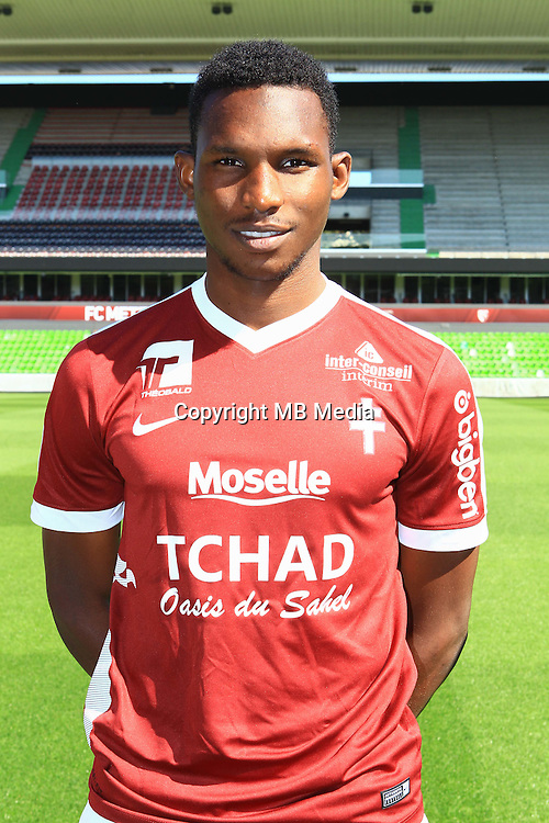 Opa Nguette poses for a portrait during the Metz squad photo call for the 2016-2017 Ligue 1 season on September 15, 2016 in Metz, France<br /> Photo : Fred Marvaux / Icon Sport