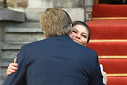 Koning Willem-Alexander en kroonprinses Victoria van Zweden zijn bij de viering van het 20-jarig jubileum van de inwerkingtreding van het Verdrag Chemische Wapens (CWC) en de oprichting van de Organisatie voor het Verbod van Chemische Wapens (OPCW). De ceremonie vond plaats in de Ridderzaal in Den Haag. <br /> <br /> King Willem-Alexander and Crown Princess Victoria of Sweden are celebrating the 20th anniversary of the entry into force of the Chemical Weapons Convention (CWC) and the establishment of the Organization for the Prohibition of Chemical Weapons (OPCW). The ceremony took place in the Ridderzaal in The Hague.<br /> <br /> Op de foto / On the photo:  Koning Willem-Alexander en kroonprinses Victoria van Zweden <br /> <br /> King Willem-Alexander and Crown Princess Victoria of Sweden