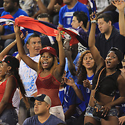 Haiti fans in action during the Haiti V Honduras CONCACAF Gold Cup group B football match at Red Bull Arena, Harrison, New Jersey. USA. 8th July 2013. Photo Tim Clayton