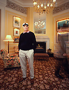 The late Bill Kimpton, hotelier and founder of the KImpton Group. Pghotographed at Fifth Ave Suites in Portland Oregon, 1996