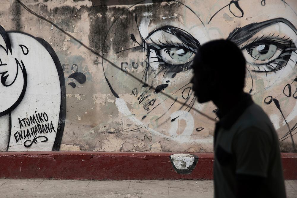 Grafitty in Old Havana, cuba.