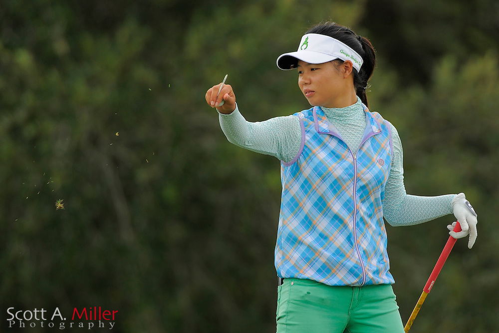 Sue Kim during the second round of the Symetra Tour Championship at LPGA International on Sept. 27, 2013 in Daytona Beach, Florida. <br /> <br /> <br /> &copy;2013 Scott A. Miller