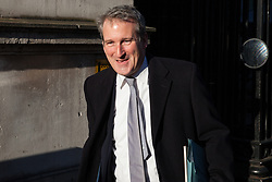 London, UK. 4th December, 2018. Damian Hinds MP, Secretary of State for Education, leaves Downing Street following a Cabinet meeting on the day on which MPs will begin to debate Prime Minister Theresa May's Brexit agreement in the House of Commons.