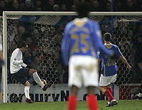 Photo: Lee Earle/Sportsbeat Images.<br /> Portsmouth v Tottenham Hotspur. The FA Barclays Premiership. 15/12/2007. Dimitar Berbatov (L) scores the opening goal for Spurs.