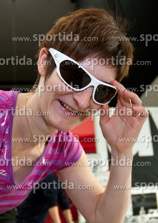 16.10.2010, Olympia Eisstadion, Innsbruck, AUT, OeSV Einkleidung 2010, im Bild Kathrin Zettel probiert die neue Sonnenbrille, EXPA Pictures © 2010, PhotoCredit: EXPA/ J. Groder