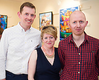 Sean O'Sullivan from Knockmore Ballina Mayo with Ann Downes Kinvara with Frank O'Sullivan's  Exhibition of new work opening at the Town Hall Theatre Galway which runs till Wed the 15th of JunePhoto:Andrew Downes, xposure