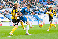 Alex Ravell of Wigan Athletic is held up by Zak Whitbread of Shrewsbury Town during the Sky Bet League 1 match at the DW Stadium, Wigan<br /> Picture by Matt Wilkinson/Focus Images Ltd 07814 960751<br /> 21/11/2015