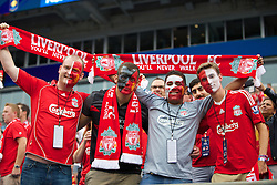 CHARLOTTE, USA - Saturday, August 2, 2014: Liverpool supporters before the International Champions Cup Group B match against AC Milan at the Bank of America Stadium on day thirteen of the club's USA Tour. (Pic by David Rawcliffe/Propaganda)