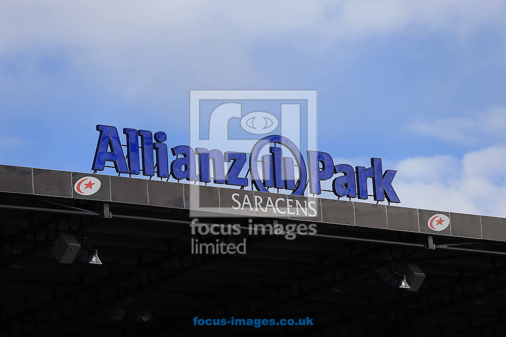 The sun is shining before the European Rugby Champions Cup match at Allianz Park, London<br /> Picture by Michael Whitefoot/Focus Images Ltd 07969 898192<br /> 17/01/2015