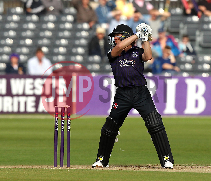 Gloucestershire's Hamish Marshall cuts - Photo mandatory by-line: Robbie Stephenson/JMP - Mobile: 07966 386802 - 26/06/2015 - SPORT - Cricket - Bristol - The County Ground - Gloucestershire v Sussex - Natwest T20 Blast
