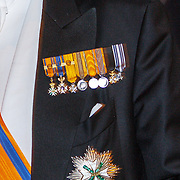 NLD/Amsterdam/20150624- Galadiner voor het Corps Diplomatique Koninklijk Paleis Amsterdam, medialles Koning Willem - Alexander
