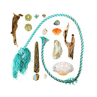 I like the calligraphic sweep of fishing ropes and the patina that algae give to the gaudy shades. <br />