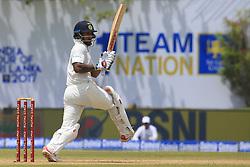 July 26, 2017 - Galle, Sri Lanka - Indian cricketer Shikhar Dhawan.. plays a shot during the 1st Day's in the 1st Test match between Sri Lanka and India at the Galle International cricket stadium, Galle, Sri Lanka on Wednesday 26 July 2017. (Credit Image: © Tharaka Basnayaka/NurPhoto via ZUMA Press)