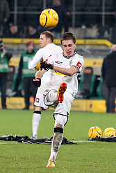 17.12.2011, BorussiaPark, Mönchengladbach, GER, 1.FBL, Borussia Mönchengladbach vs Mainz 05, im BildPatrick Herrmann (Mönchengladbach #7) schiesst nach dem Spiel Bälle ins Publikum // during the 1.FBL, Borussia Mönchengladbach vs Mainz 05 on 2011/12/17, BorussiaPark, Mönchengladbach, Germany. EXPA Pictures © 2011, PhotoCredit: EXPA/ nph/ Mueller..***** ATTENTION - OUT OF GER, CRO *****