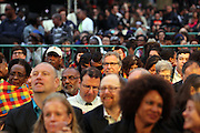 Brooklyn, NY-June 3: Audience attends the opening of Celebrate Brooklyn! held at Prospect Park's Bandshell on June 3, 2015 in Brooklyn, New York City.  Photo Credit: Terrence Jennings/terrencejennings.com