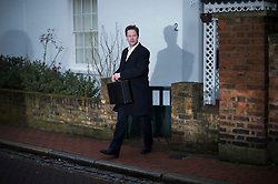 © London News Pictures. 27/02/2013. London, UK.  Deputy Prime Minister Nick Clegg leaving his home in London on February 27, 2013. The Liberal Democrats, who are currently campaigning in the Eastleigh  by-election have been accused of a a cover up of alleged sexual harassment by former Liberal Democrat Chief Executive Lord Chris Rennard. by Photo credit: Ben Cawthra/LNP