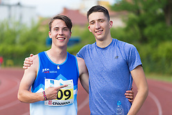 Rok Markelj and Jan Vukovic posing during day 2 of Slovenian Athletics Cup 2019, on June 16, 2019 in Celje, Slovenia. Photo by Peter Kastelic / Sportida