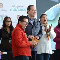 Almoloya de Juárez, México (Febrero 01, 2017).- Eruviel Avila Villegas, Gobernador del Estado de México, durante la inauguración de la Clinica de Salud de San Francisco Tlalzilalcapan, informó que en todas las clínicas de de la entidad darán servicio medico sábados, domingos y días festivos. Agencia MVT / José Hernández.