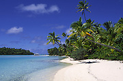 One foot Island (Tapuaetai), Aitutaki, Cook Islands<br />