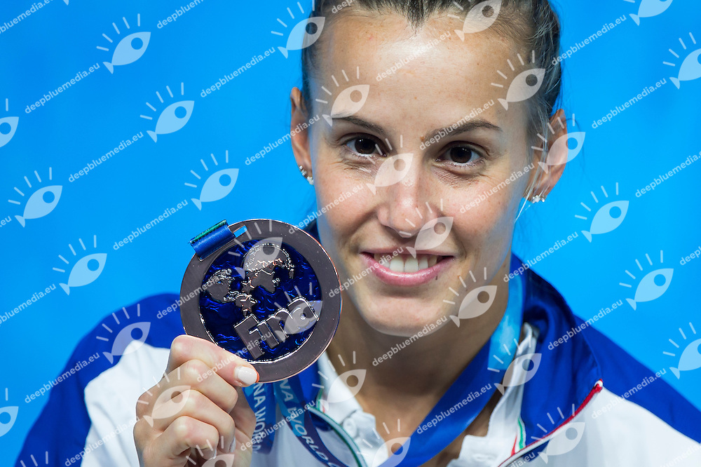 CAGNOTTO Tania ITA bronze medal<br /> Diving - Women's 3m Springboard final<br /> Day 09 01/08/2015<br /> XVI FINA World Championships Aquatics Swimming<br /> Kazan Tatarstan RUS July 24 - Aug. 9 2015 <br /> Photo Giorgio Perottino/Deepbluemedia/Insidefoto
