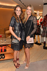 Left to right, LADY VIOLET MANNERS and LADY KITTY SPENCER at a dinner hosted by Tod's to celebrate the refurbishment of their store 2-5 Old Bond Street, London on 15th September 2016.